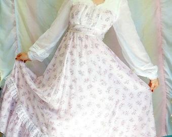 1970s Deadstock Gunne Sax Prairie Girl Dress
