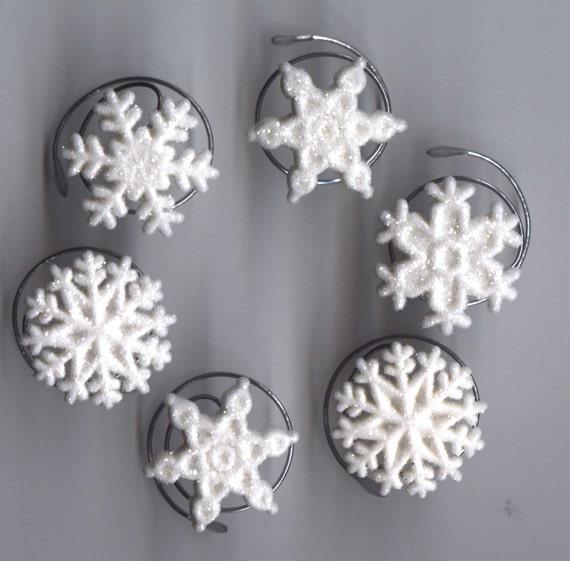 Snowflake Hair Swirls Ballroom Dance-Glitter Hair Spins-Spirals-Twists-Coils-Screws-Twisties-Flower Girl