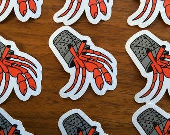 "Hermit Crab Thimble Vinyl Sticker 2"""