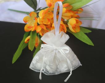 100PCS White Drawstring Bags Pouch Wedding Favor Gift Packaging Bag Jewelry Party Bags ,Bud silk organza Jewelry Gift Bags