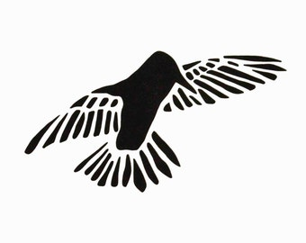 Stencil - Paint & Craft Stencil - Fiber Art Stencil - Humming Birds - Flying Bird Stencil - Fabric Painting Stencil - Home Decor Stencil