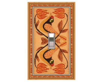 1522X - Folk Art Birds - mrs butler switch plate covers - choose sizes / prices from drop down box