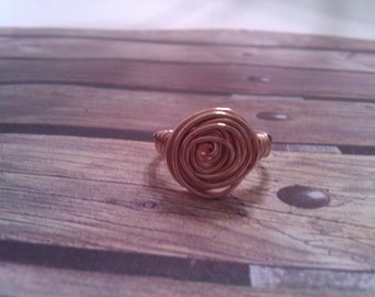 Gold Pin Wheel Ring