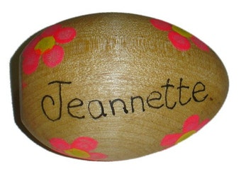 Personalized Wooden Easter Egg Hand Painted