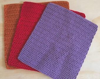 Crochet Dishcloths - set of 3