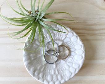 Vanity Decor, Handmade Ring Dish, Ceramic Ring Dish, Bridesmaids Gift Idea, Ring Holder, Jewelry Dish, Engagement Gift Idea, Gifts Under 30