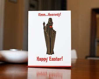 SALE - Sweet Jesus - Slightly Blasphemous Chocolate Jesus Easter Card on 100% Recycled Paper