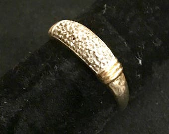 9ct Yellow Gold Pave Diamond Ring