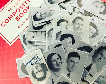 Vintage Yearbook Photo Confetti Party Decor