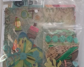 Paperbag album nature vacation theme Kit