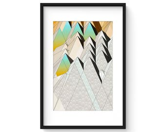 TERRAIN no.106 - Mid Century Modern Abstract Geometric Landscape Print