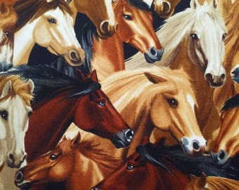 Horses #C4562 by Timeless Treasures
