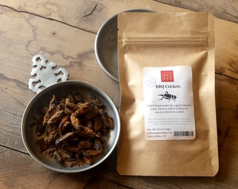 BBQ Crickets, Sustainable Snacks, Edible Insects
