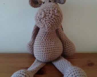 Hippo soft toy, cuddly plush