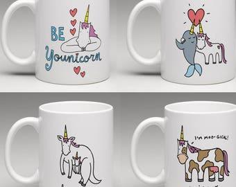Unicorn Mug Designs Choose One