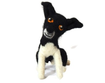 Custom Dog Sculpture - Example Needle felted Border Collie - Border Collie Art - Border Collie Sculpture