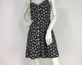 90s floral dress/1990s skater dress