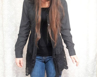 SUMMER SALE Black Lace Jacket