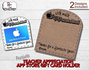 App Store Gift Card Holder; Teacher appreciation App Store gift; Apple gift card; teacher gift; gift card holder; Itunes gift card; Apple