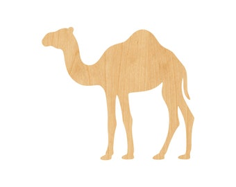 Camel Laser Cut Out Wood Shape Craft Supply - Unfinished