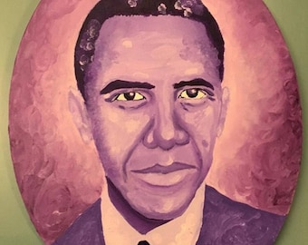 Oval Obama Painting