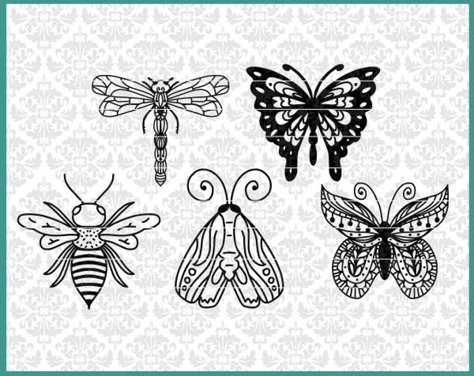Bugs svg, Butterfly svg, Moth Svg, Bee Svg, Monarch Butterfly svg, Dragonfly Svg, Hand Drawn Svg, Prank bug svgs, Silly bug svg, svg project