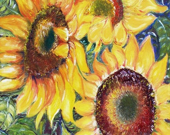 Ceramic Trivet - Sunflowers