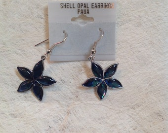 Small Inlay Abalone/Paua Shell Earrings..Perfect For Little Children, Adult, Gifts