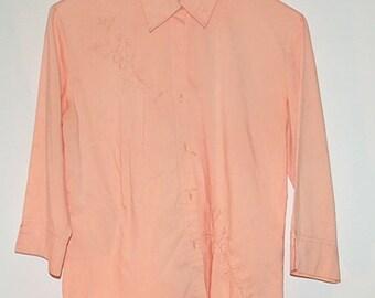 Vintage Peach shirt blouse