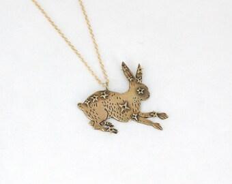 SALE- Lepus necklace- Brass