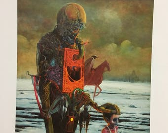 Beksinski Zdzislaw Master Surrealist from Poland Print on Matt paper, Rare reproduction of this particular painting