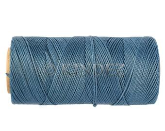 Waxed Cord, Macrame Cord, 15 meters/16 yards Knotting Cord, Linhasita 119, Macrame Jewerly String, Friendship Bracelet Cord -  Pale Blue