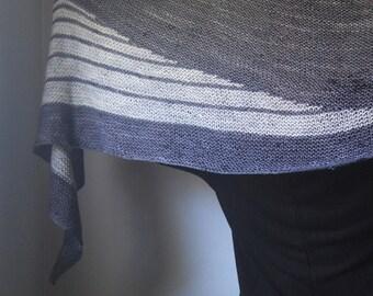 DECIBEL Shawl Knitting Pattern PDF