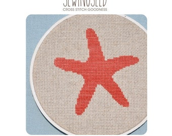 Starfish Cross Stitch Pattern Instant Download