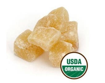 Ginger Root Cubes, Crystalized, Organic 1 Pound
