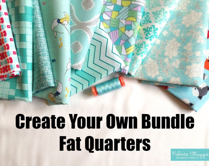 Custom Fabric Bundle. Create Your Own Bundle of Fabric Shoppe Fabrics. Fat Quarters. You Choose the amount. Free Shipping Available