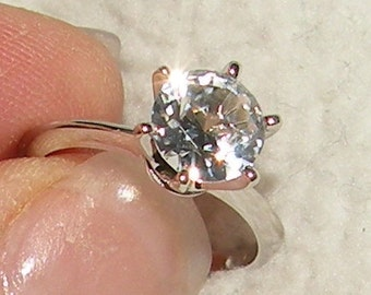 2.25ct - Solitaire White Sapphire Engagement Ring