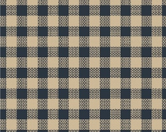 Windham Basics - Blue & Cream Plaid Fabric