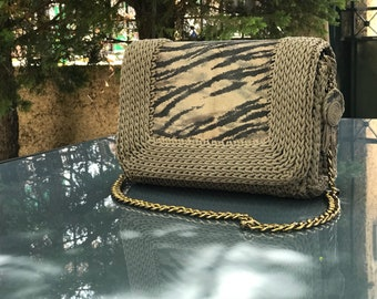Real leather crochet bag