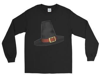 Pilgram Thanksgiving Halloween Long Sleeve T-Shirt