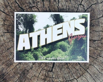"Athens, Georgia ""It's Under There!"" // Postcard"