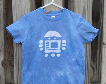 Kids Robot Shirt, Robot Kids Shirt, Blue Robot Shirt, Boys Robot Shirt, Girls Robot Shirt, American Made Kids Shirt, Batik Kids Shirt (4)