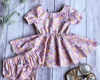 Twirly Mini Dress with matching bloomers
