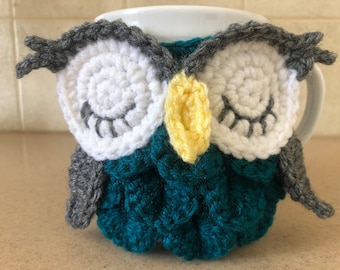 Owl Cozy -- Owl Mug Cozy -- Mug Cozy -- Coffee Cup Cozy -- Coffee Cozy