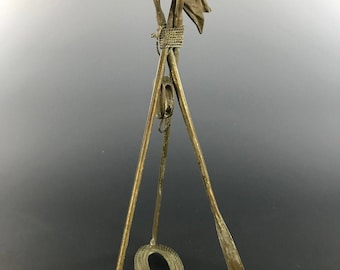 Nautical Theme Antique Watch Holder Oars Pike Flag Pulley Rope Base