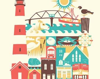 CHINCOTEAGUE print - 11x14 (color: Original)