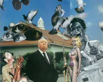 Alfred Hitchcock - art collage