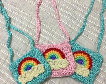 Handmade Mini Rainbow Bag