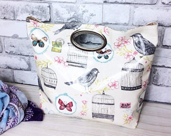market bag, shopping bag, knitting bag, grocery bag, oilcloth tote, ladies handbag, wet bag, everyday bag, hobo bag, vegan bag, gift for her