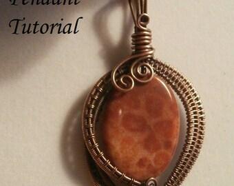 Wire TUTORIAL, 3 files! Wire Wrapped Jewelry Pendant, Beginner to Intermediate Jewelry Pattern, Making Wire Jewelry